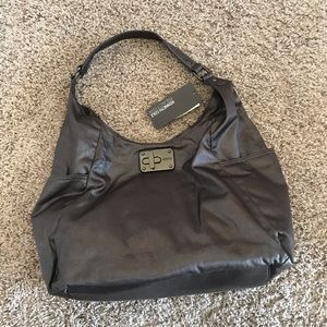 NWT Kenneth Cole Reaction nylon pewter Hobo bag